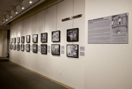 Installation view of Paul Henderson: Baltimore's Civil Rights Era in Photographs, ca. 1940-1960.